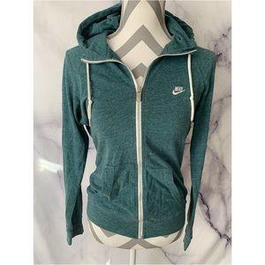 Green NIKE zipup hoodie sweater Sz M
